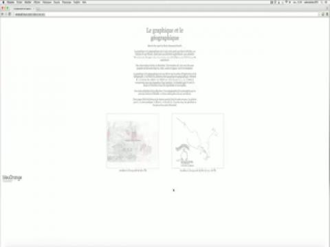 Le graphique et le géographique, Marie-Pier April et Boris Dumesnil-Poulin, Vidéo 1