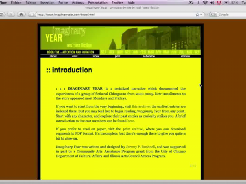 Imaginary Year (navigation filmée #1)
