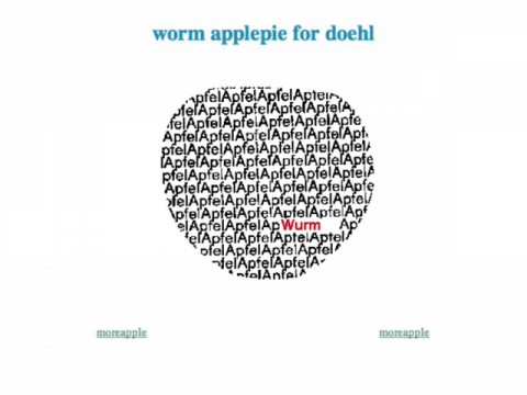 worm applepie for doehl (navigation filmée #1)