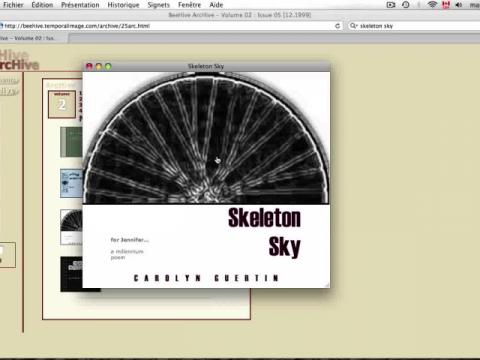 Skeleton Sky: A Millenium Poem (navigation filmée #1)