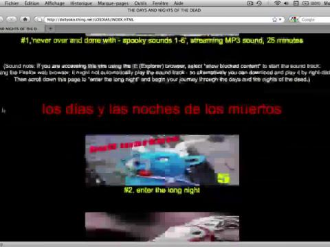 Los Dias y Las Noches de Los Muertos (navigation filmée #1)