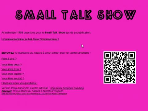 Small Talk Show (navigation filmée #1)