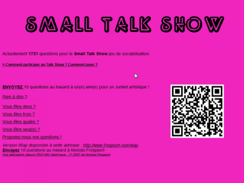 Small Talk Show (navigation filmée #1)