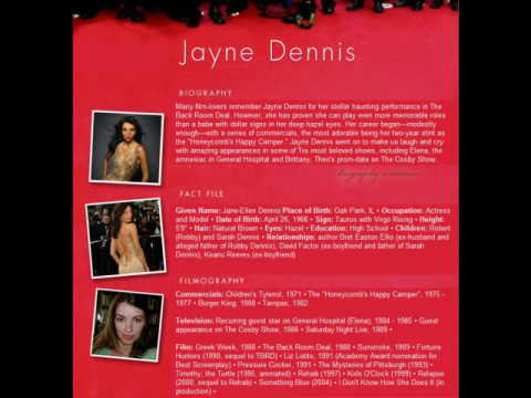 Jayne Dennis (navigation filmée #1)