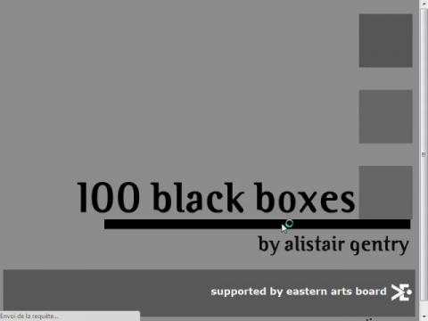 100 black boxes (navigation filmée #1)