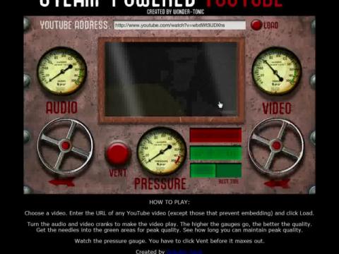 Steam-Powered YouTube (navigation filmée #1)