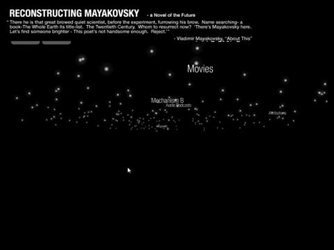 Reconstructing Mayakovsky (navigation filmée #1)
